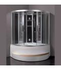 Parní sprchový box s hydromasážní vanou EAGO DA324HF3-1 černý 150x150x225