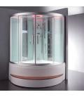 Parní sprchový box s hydromasážní vanou EAGO DA324HF3-1 bílý 150x150x225